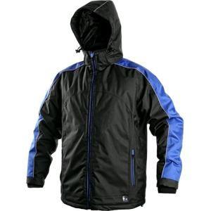Pánská zimní bunda BRIGHTON - Černá / modrá | M