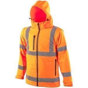 Reflexní softshellová bunda - Oranžová | XXXXL