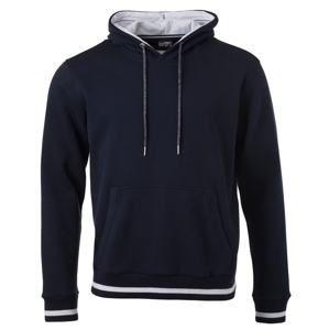 Pánská mikina s kapucí Club JN778 - Tmavě modrá / bílá | XXXL