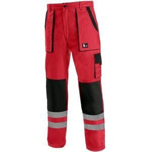 Canis Montérkové kalhoty do pasu CXS LUXY BRIGHT - Červená / černá | 50