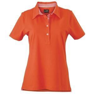 Elegantní dámská polokošile JN969 - Tmavě oranžová / tmavě oranžová / bílá | XL