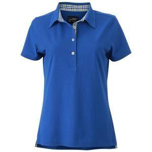 Elegantní dámská polokošile JN969 - Královská modrá / modrá / zelená / bílá | L