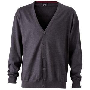 Pánský bavlněný svetr JN661 - Antracitový melír | XXXL