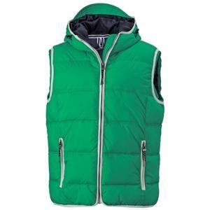 Pánská vesta s kapucí JN1076 - Irská zelená / bílá | XXL