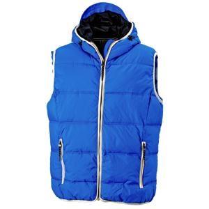 Pánská vesta s kapucí JN1076 - Světle modrá / bílá | M