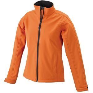 Dámská softshellová bunda JN137 - Oranžová | L