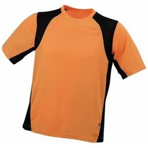 Pánské sportovní tričko s krátkým rukávem JN306 - Oranžová / černá | L