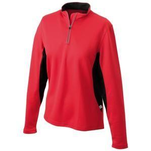 Dámské sportovní tričko s dlouhým rukávem JN317 - Červená / černá | XXL