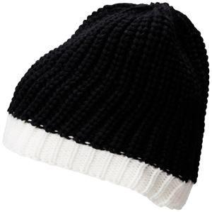 Zimní čepice MB7103 - Černá / bílá