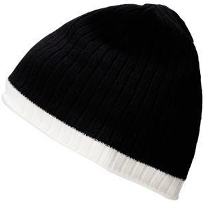Zimní čepice MB7102 - Černá / bílá