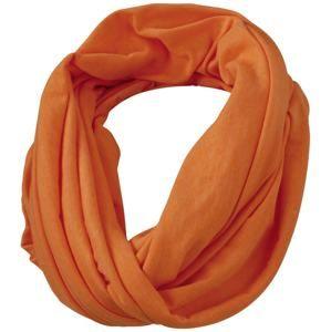 Lehká šála MB6578 - Oranžový melír | 75 x 80 cm