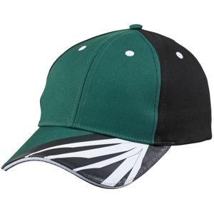 Pracovní kšiltovka MB6574 - Tmavě zelená / černá / bílá | uni