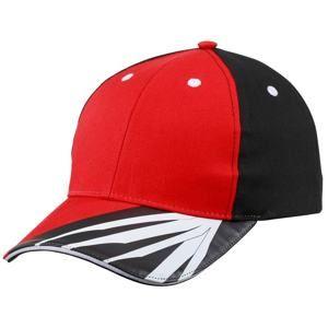 Myrtle Beach Pracovní kšiltovka MB6574 - Červená / černá / bílá | uni