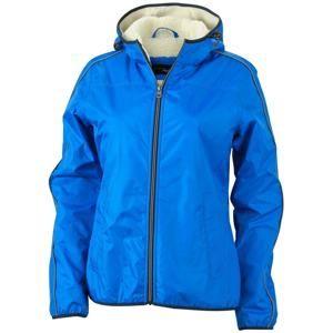 Dámská bunda Beránek JN1103 - Královská modrá / šedo-bílá | M