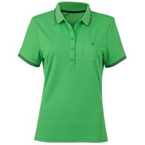Dámská sportovní polokošile JN701 - Zelená / tmavě šedá   XXL