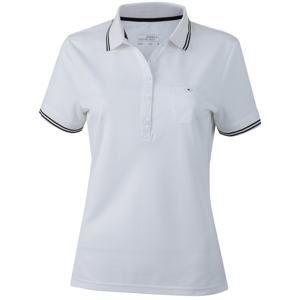 Dámská sportovní polokošile JN701 - Bílá / černá | M