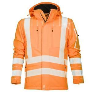 Reflexní softshelová bunda SIGNAL - Oranžová | XL