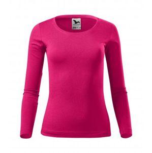 Dámské tričko s dlouhým rukávem Fit-T Long Sleeve - Malinová | XL