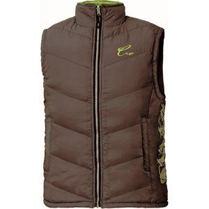Dámská prošívaná vesta YOWIE - Hnědá / zelená | L