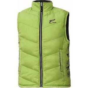 Dámská prošívaná vesta YOWIE - Zelená / tmavě modrá | L