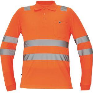 Cerva Pánská reflexní polokošile s dlouhým rukávem LUGO - Oranžová | S