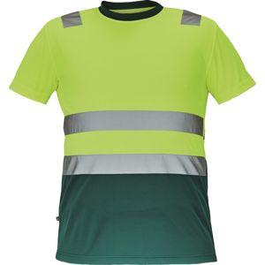 Cerva Pánské reflexní tričko MONZON - Žlutá / zelená | L