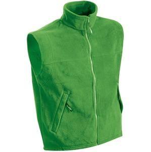 Pánská fleecová vesta JN045 - Limetkově zelená | XXXXL