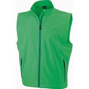 Pánská softshellová vesta JN1022 - Zelená | L