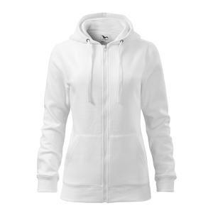 Dámská mikina Trendy Zipper - Bílá | XL