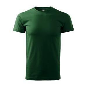 Pánské tričko Basic - Lahvově zelená | XXL