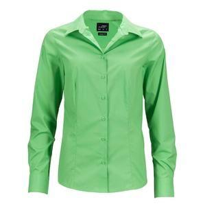 Dámská košile s dlouhým rukávem JN641 - Limetkově zelená | S