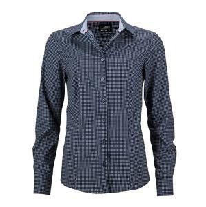 Dámská luxusní košile Dots JN673 - Tmavě modrá / bílá | XXL