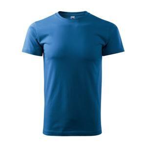 Tričko Heavy New - Azurově modrá | XXL