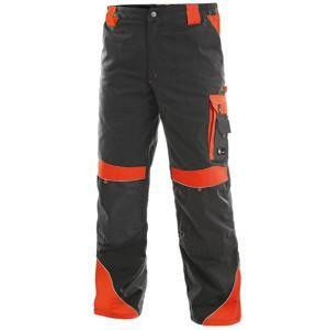 Pracovní kalhoty SIRIUS BRIGHTON - Šedá / červená | 62