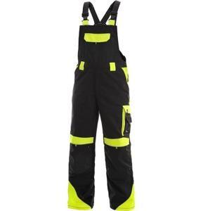 Pracovní kalhoty s laclem SIRIUS BRIGHTON - Černá / žlutá | 64