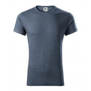 Pánské tričko Fusion - Tmavý denim melír | XXL