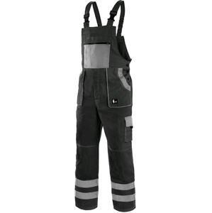 Montérkové kalhoty s laclem CXS LUXY BRIGHT - Černá / šedá | 60