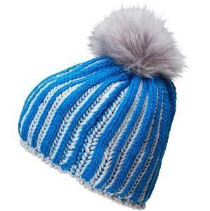Pletená dámská zimní čepice MB7107 - Kobaltová / stříbrná
