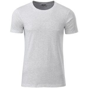 Klasické pánské tričko z biobavlny 8008 - Popelavá | XXXL