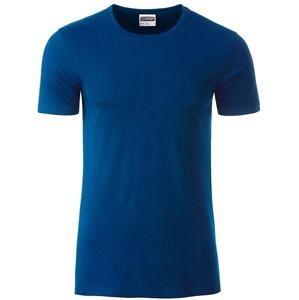 Klasické pánské tričko z biobavlny 8008 - Tmavá královská modrá | XL