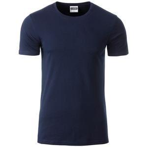 Klasické pánské tričko z biobavlny 8008 - Tmavě modrá | XXL