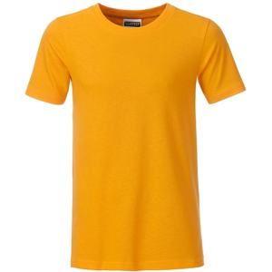 Klasické chlapecké tričko z biobavlny 8008B - Zlatě žlutá | M