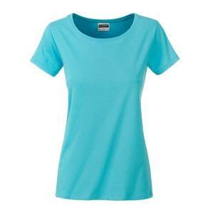 Klasické dámské tričko z biobavlny 8007 - Pacific | XXL
