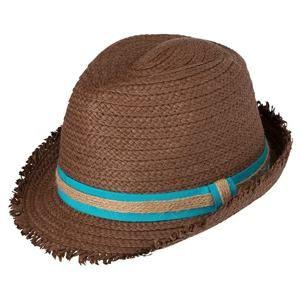 Letní slaměný klobouk MB6703 - Nugátová / tyrkysová   L/XL